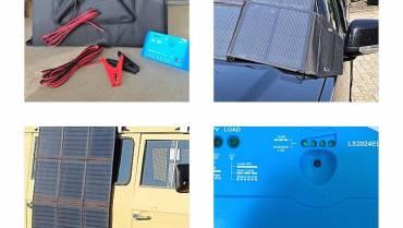 Solartasche 180W, incl. Laderegler, Anschlusskabel